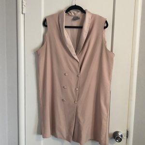 Tuxedo style shift dress